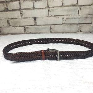 Tommy Hilfiger Brown Braided Belt 36